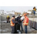 Preparation of the PETRO BARRIER filtration system before pouring concrete