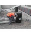 La barrera PETRO prefabricada puede conectarse directamente a las tuberías de descarga de agua de un nuevo sitio