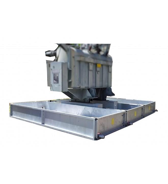SANERGRID® TRT modular retention tank for power transformer metalic outdoor oil bund dielectric leakage spill substation