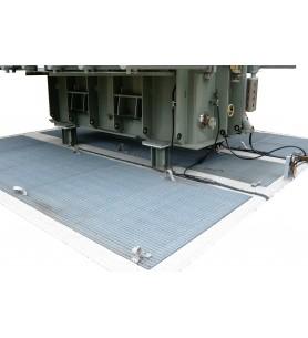 Couverture coupe-feu pour fosse transformateur EXTICOV™, châssis pour fosses béton sous stations