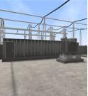 Mapa de realidad virtual interactivo tridimensional de una estación de transformación