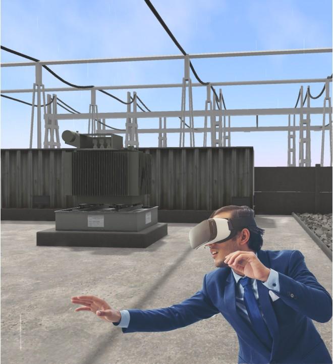 Inmersión en una estación transformadora con el casco de realidad virtual Oculus Gear VR 324