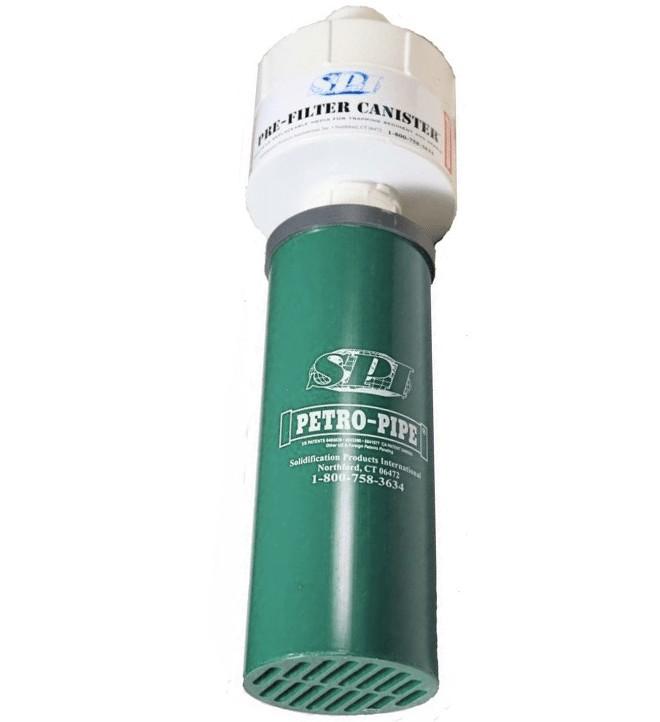 Cartucho PETRO PIT® éster con su prefiltro PFC-44 drenaje del agua de lluvia con riesgo de contaminación del éster