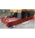 Camion équipé d'un bac de rétention souple TRFLEX ECO-TRUCK et son filtre SPI Petro Pipe pour drainer les eaux de pluies