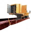 Subestación móvil en un remolque en un cubeto de retención flexible TRFLEX ECO TRUCK y caminos de rodadura