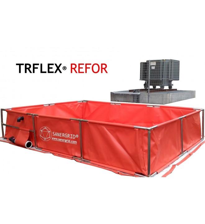 TRFLEX refor bac de stockage souple pour transformateurs de puissance avec filtre drainage des eaux de pluie