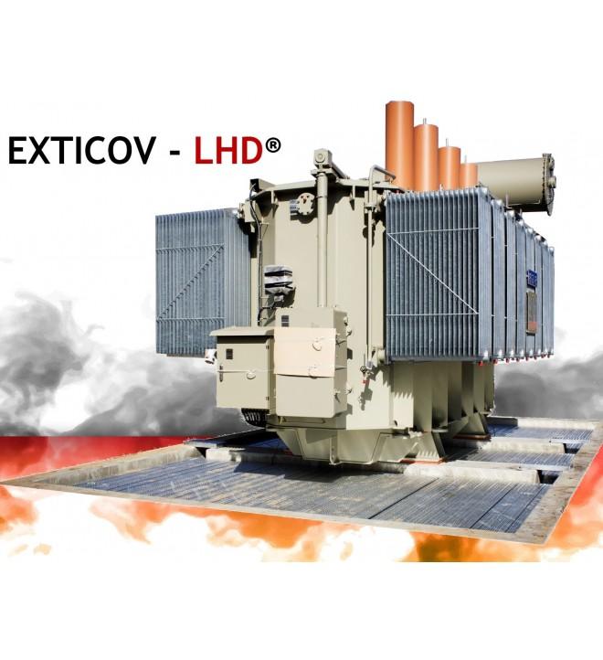 EXTICOV LHD couverture caillebotis coupe feu pour fosse de transformateur électrique remplacement galets dans fosse béton