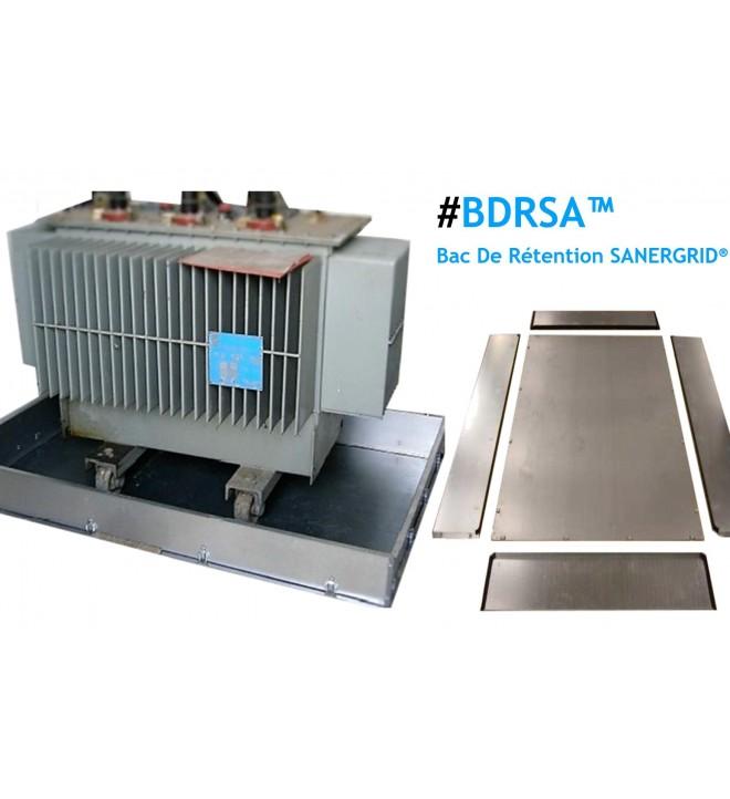 BDRSA bac de rétention transformateur à façade détachable longueur largeur et joint d'étanchéité
