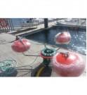 El skimmer de desbordamiento GRINTEC puede cosechar hasta 30 m³ / h.