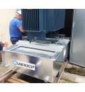 Bac anti feu ERT avec système de roulage et silent block anti vibration SANERVIB entre le transformateur et le bac