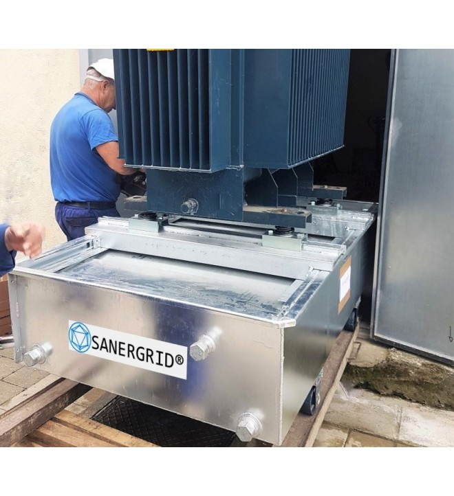 fire-suppression retention tank ERT sanergrid with rainwater filtration system petro pit SPI
