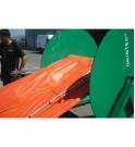 Barrage auto-gonflable GRINTEC et son enrouleur hydraulique
