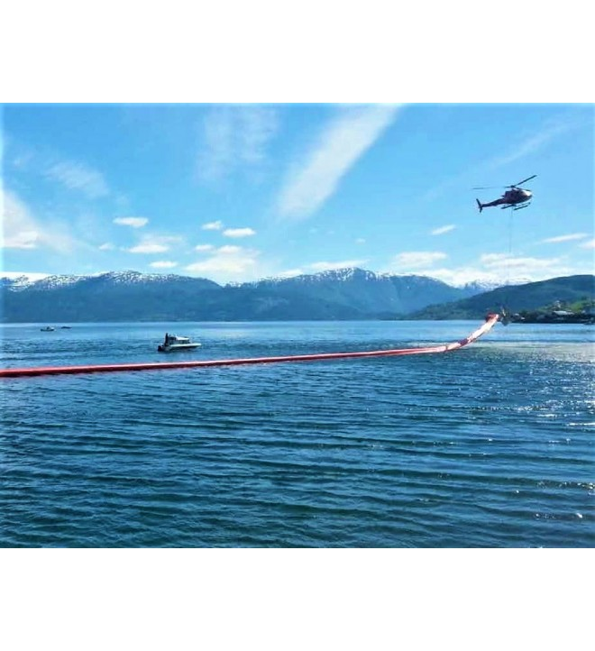 Barrera cilíndrica GRINTEC para ser utilizado en aguas protegidas, puertos, aguas abiertas y bahías.