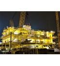 Installation du Transformateur 220 MVA 225 kV pour plateforme éolien offshore KOLEKTOR ETRA SANERGRID