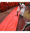 GRINTEC floating barrier against floating debris and plastic pollution