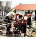 E_FOURREAU Sanergrid gama fácil instalación vainas aislantes avifauna protección de redes de alta tensión