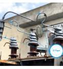 Gama E_TAPE protección de rodillo de silicona conectores de alto voltaje anti intrusión animal poste de alto voltaje MIDSUN