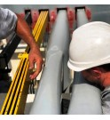 E_PLAQUE Gama Sanergrid con y sin protección aislante para barras colectoras redes eléctricas protección avifauna Midsun