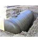 DEPOSIT fosse déportée préfabriquée pour transformateur SANERGRID 80 000 litres