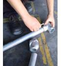 TRFLEX REFOR Fijación de las barras de la estructura mediante una llave Allen en las cabezas de soporte