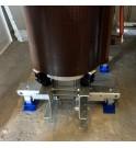 Anti-vibration mounts installed on dry-type transformers of the GRAVITYline SANERGRID range