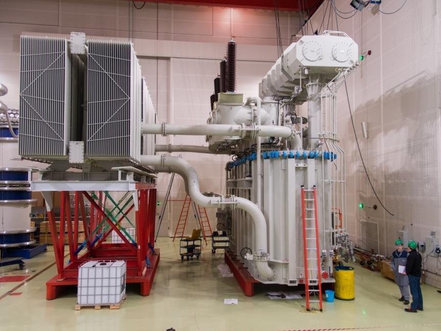Transfomateur de puissance KOLEKTOR ETRA de 10 à 400 MVA et homologués EDF