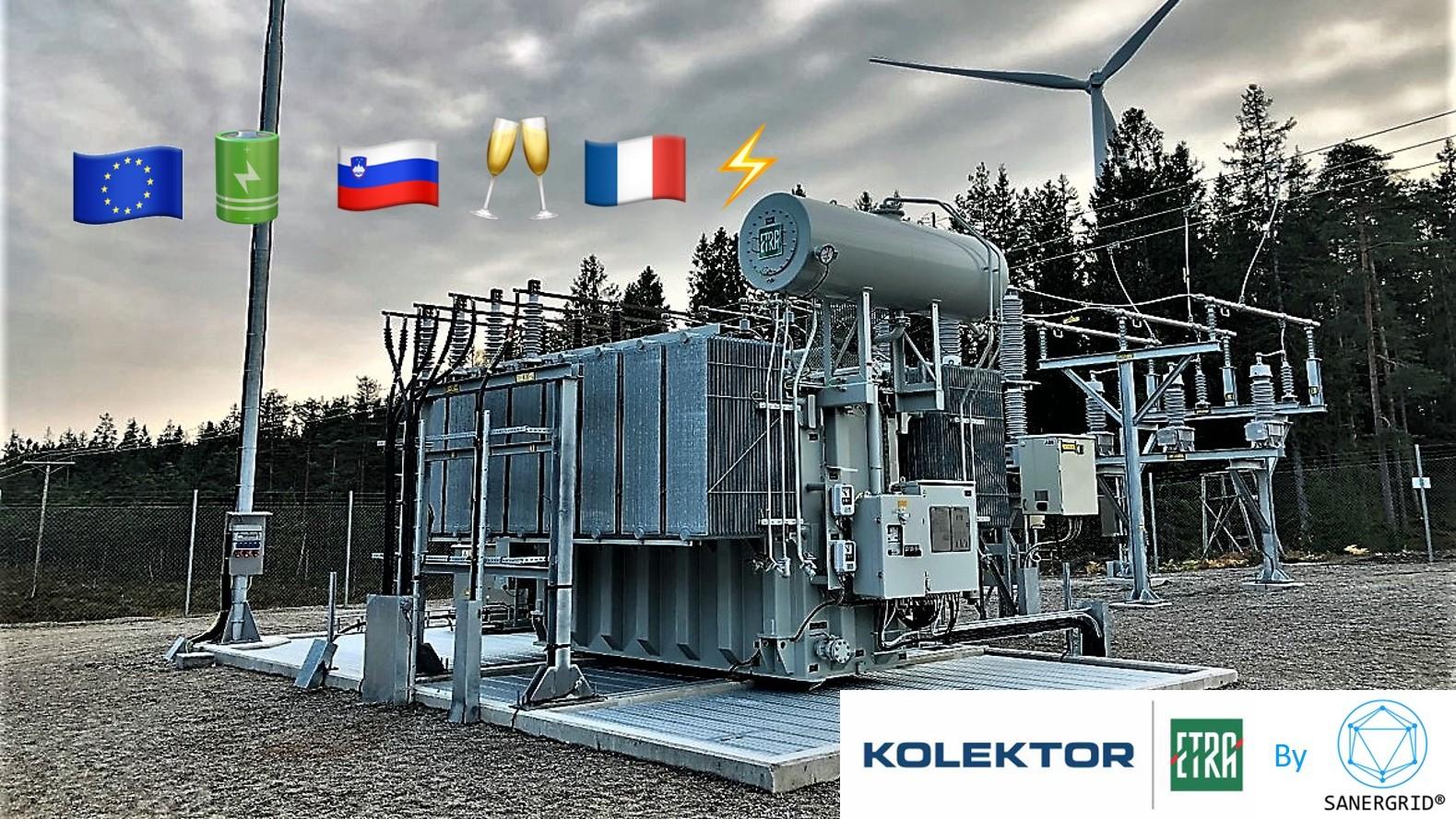Transformateur de puissance à huile 8 MVA 63 KV France Kolektor ETRA par SANERGRID