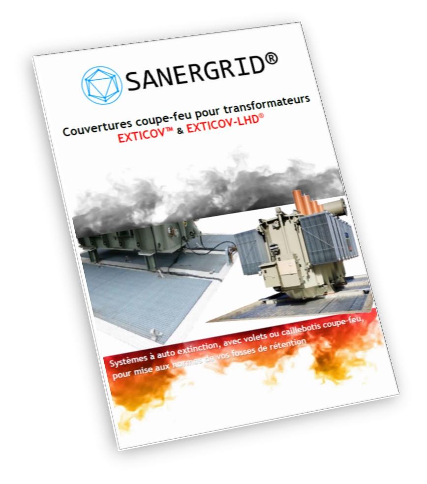 Transformateur sec de distribution enrobé SANERGRID risque incendie feu hôpital centre comercial