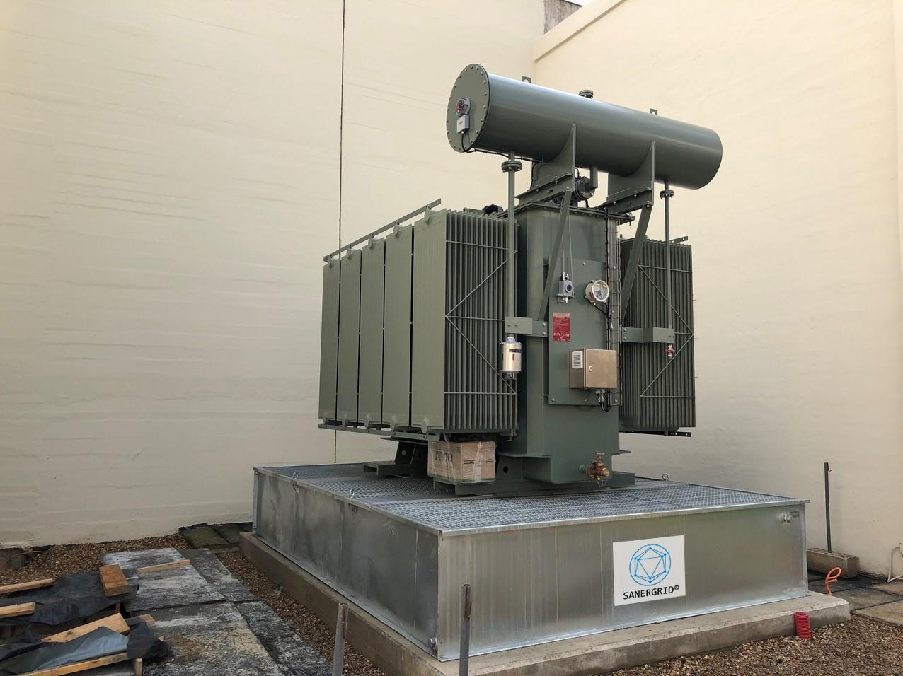 ERT bac de rétention anti feu pour transformateur avec système de filtration SPI de Sanergrid