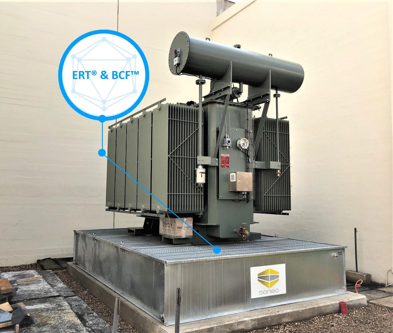 SANERGRID bac de rétention pour transformateur et système coupe feu