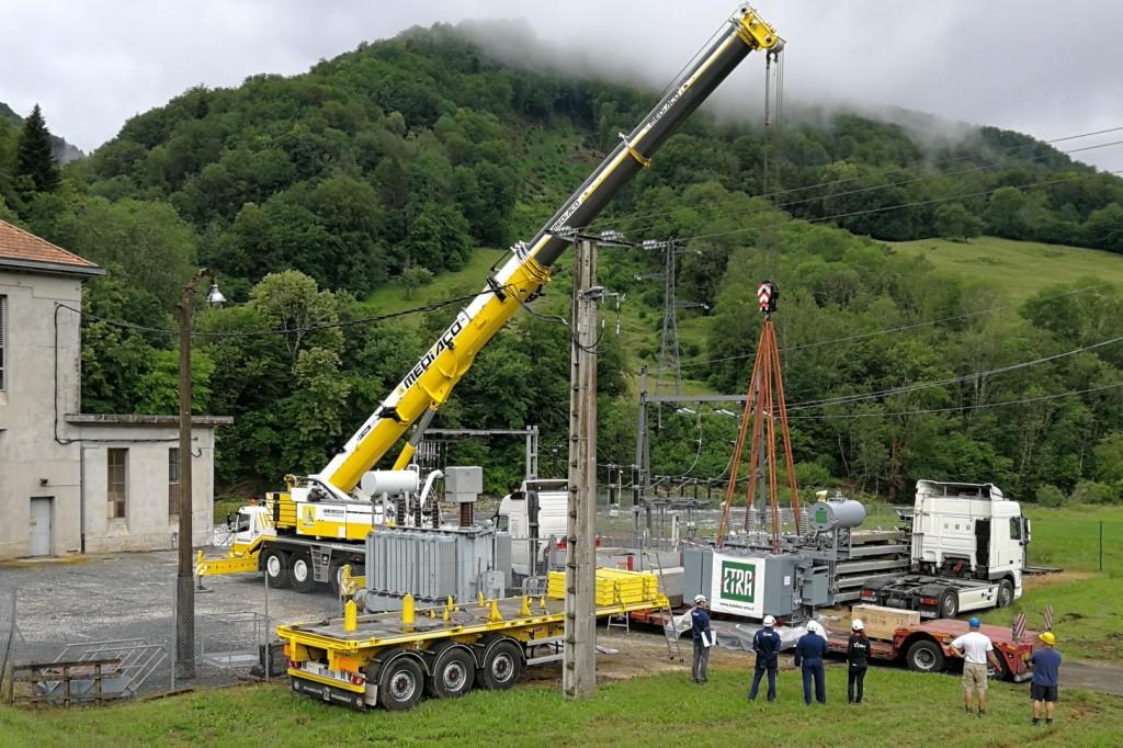coordination de déchargement de transformateur de puissance ETRA chez EDF par SANERGRID
