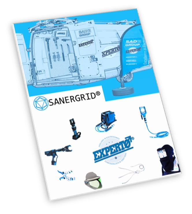 EXPERTO SANERGRID puesta a tierra corte cable cabeza de cable media alta tension protección arco eléctrico arc flash
