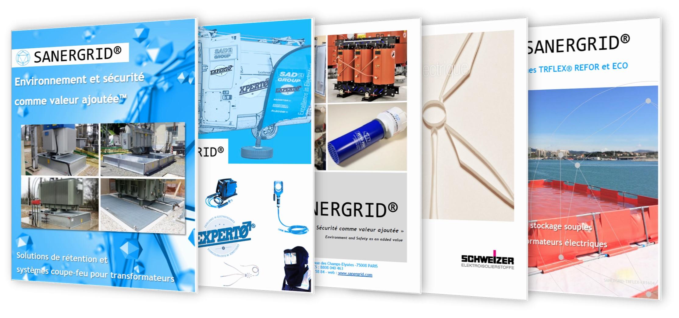 Descarga documentación SANERGRID cubetos filtros aceite transformadores herramientas eléctricas